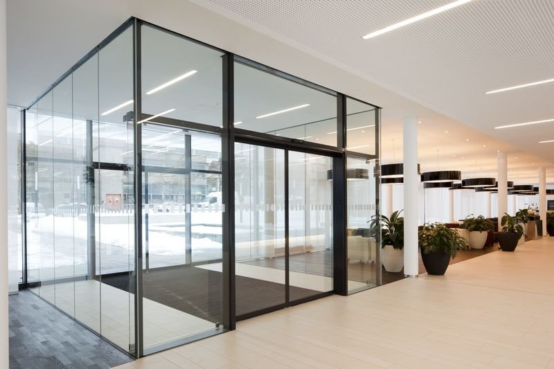 Entraway Security Access Control And Automatic Sliding Doors
