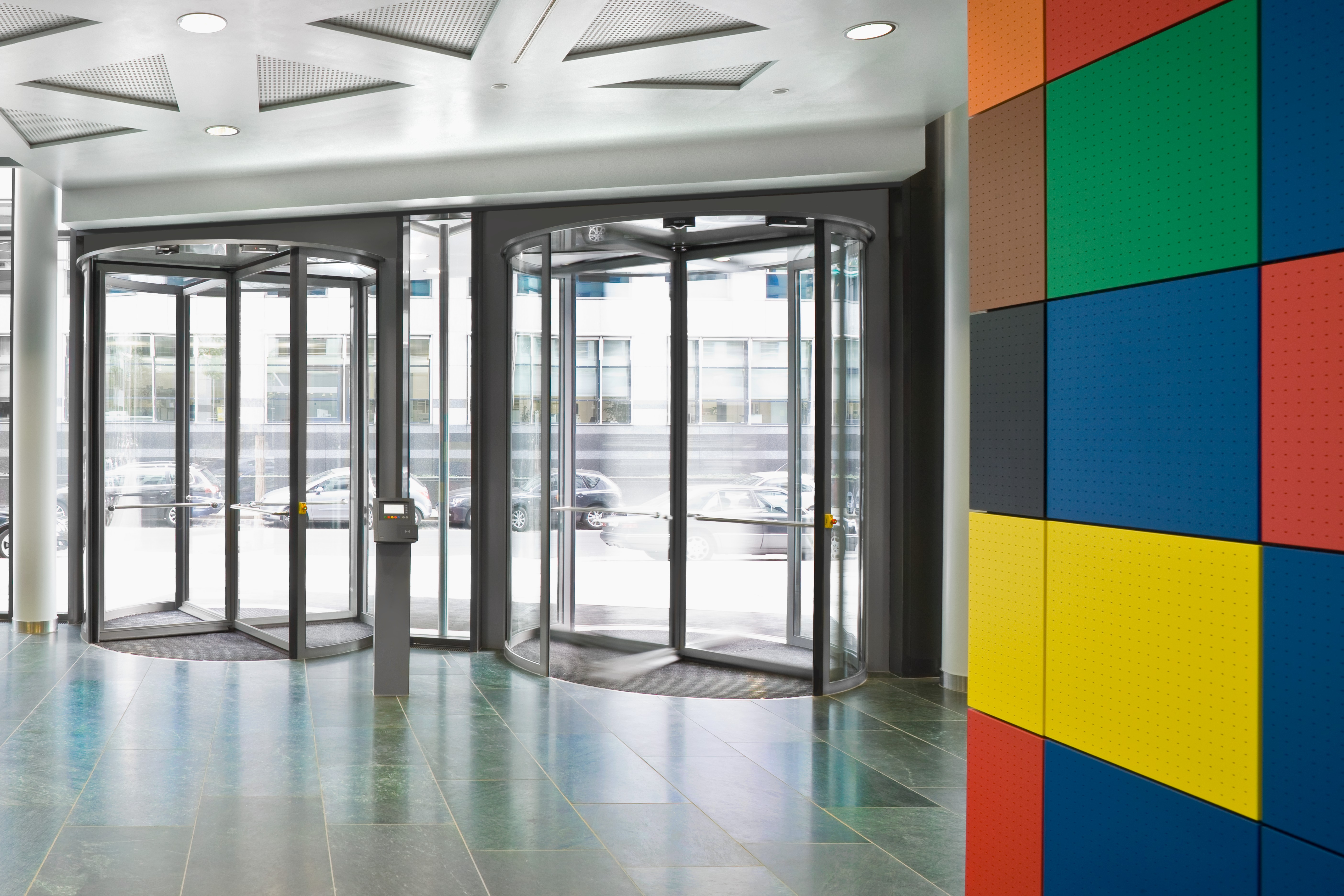 First automatic sliding doors - Revolving Door Automatic